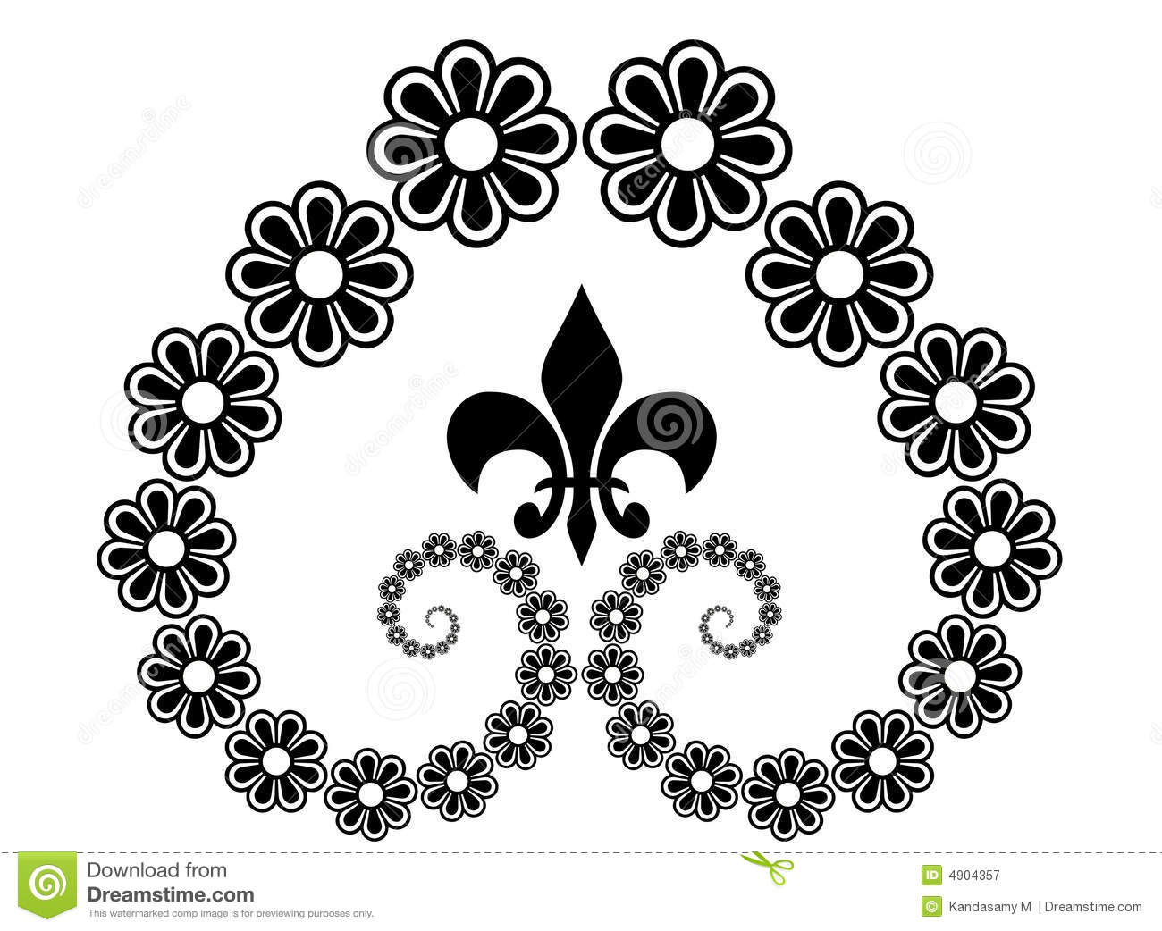 Flower Line Art Royalty Free Stock Photography Image