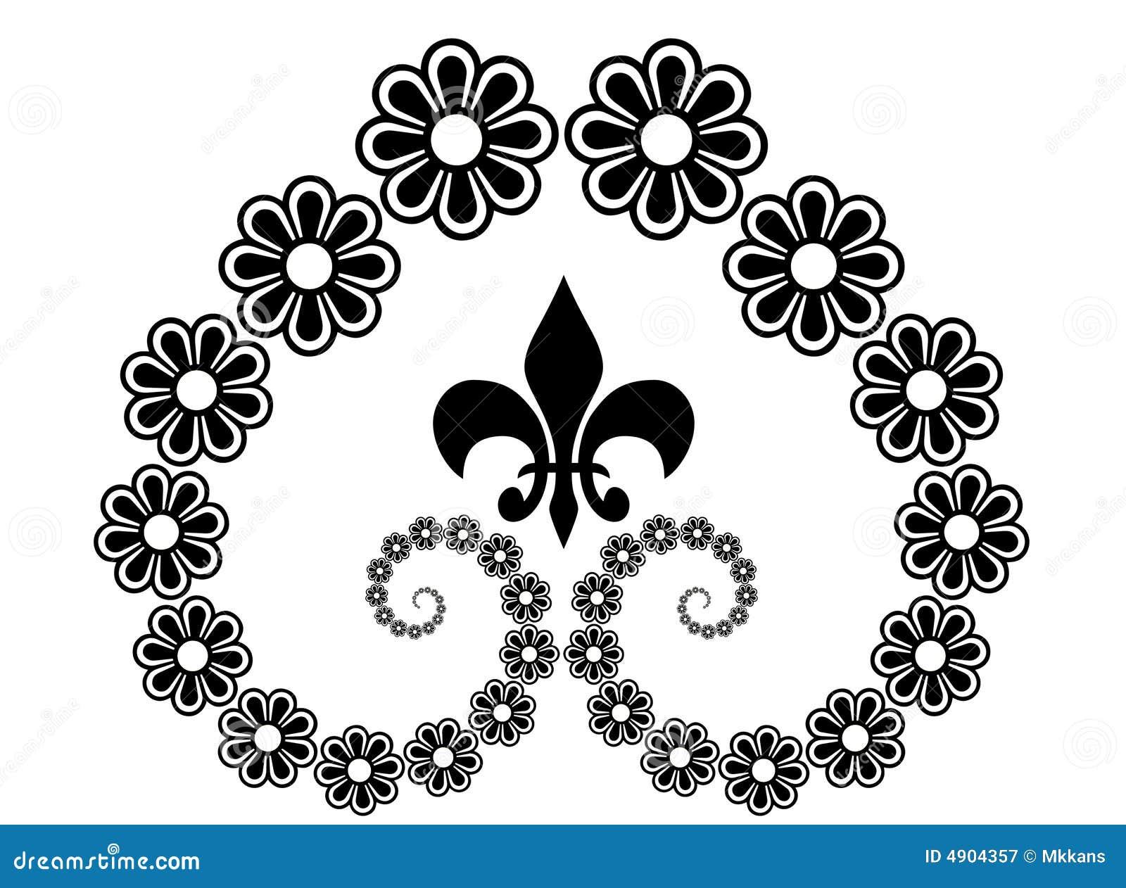 Line Art Design Free Download : Flower line art stock illustration of