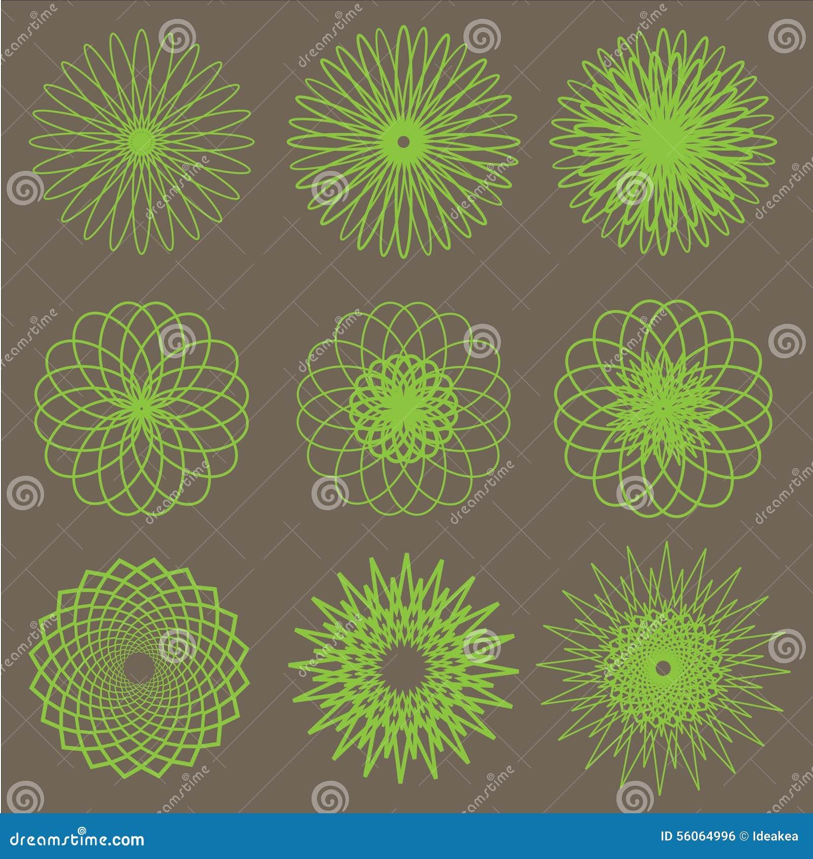 Green Flower Line Drawing : Flower line art stock vector image