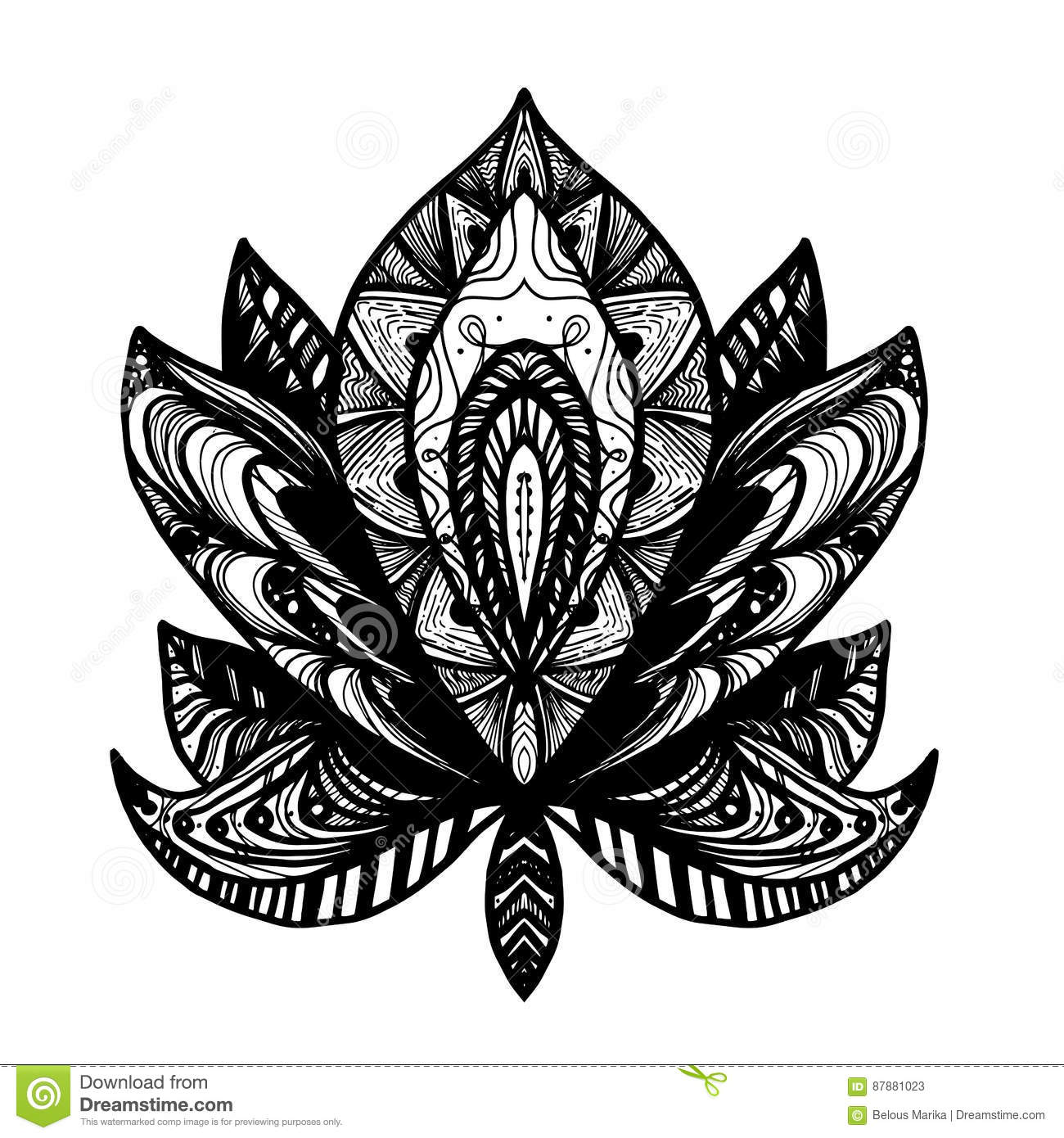 Flower lotus tattoo stock illustration illustration of buddhism download flower lotus tattoo stock illustration illustration of buddhism 87881023 izmirmasajfo
