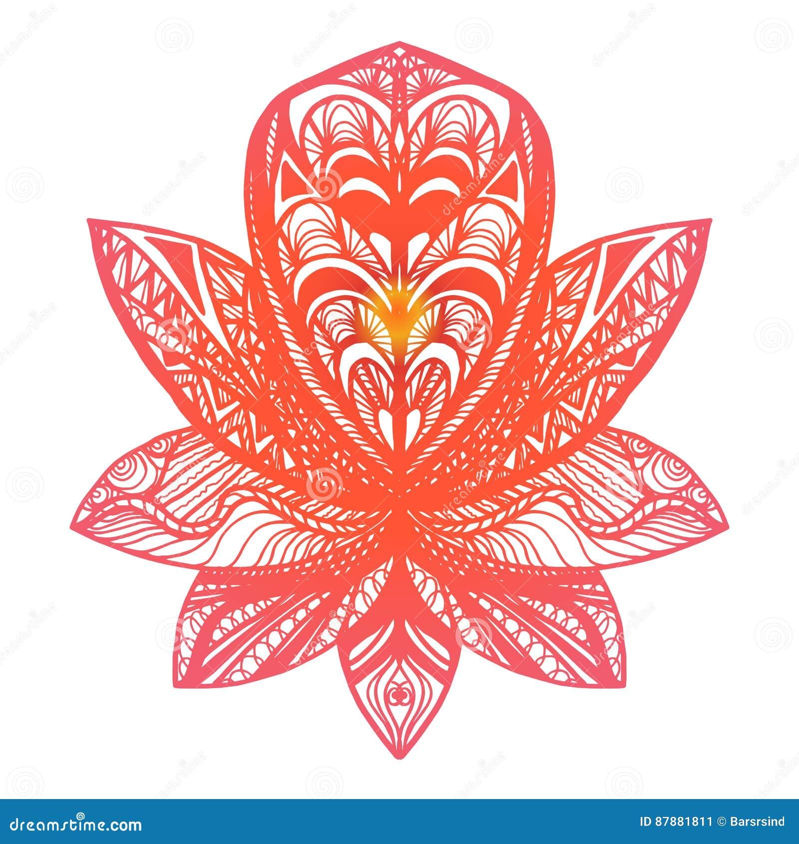 Flower lotus tattoo stock illustration illustration of botany download flower lotus tattoo stock illustration illustration of botany 87881811 izmirmasajfo
