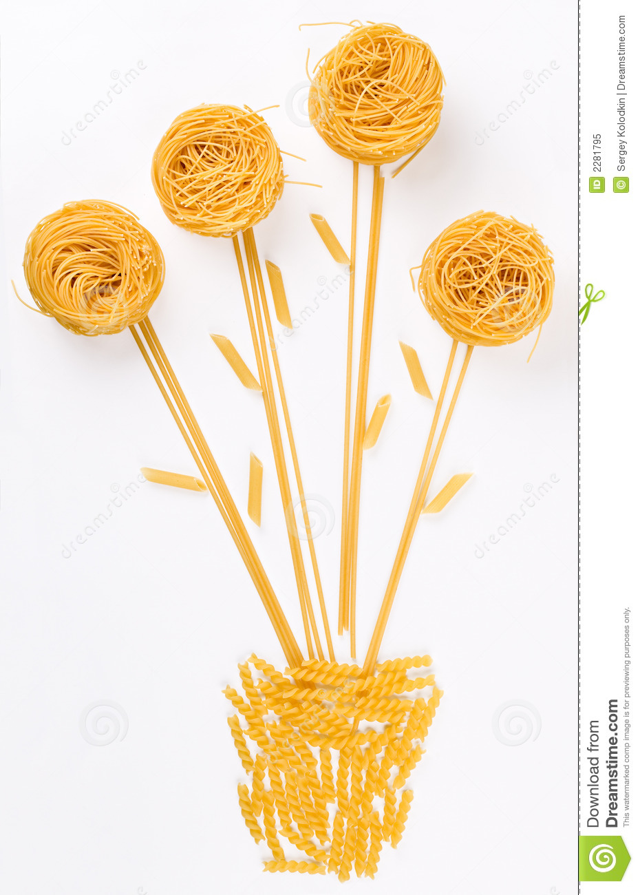Flower made of pasta