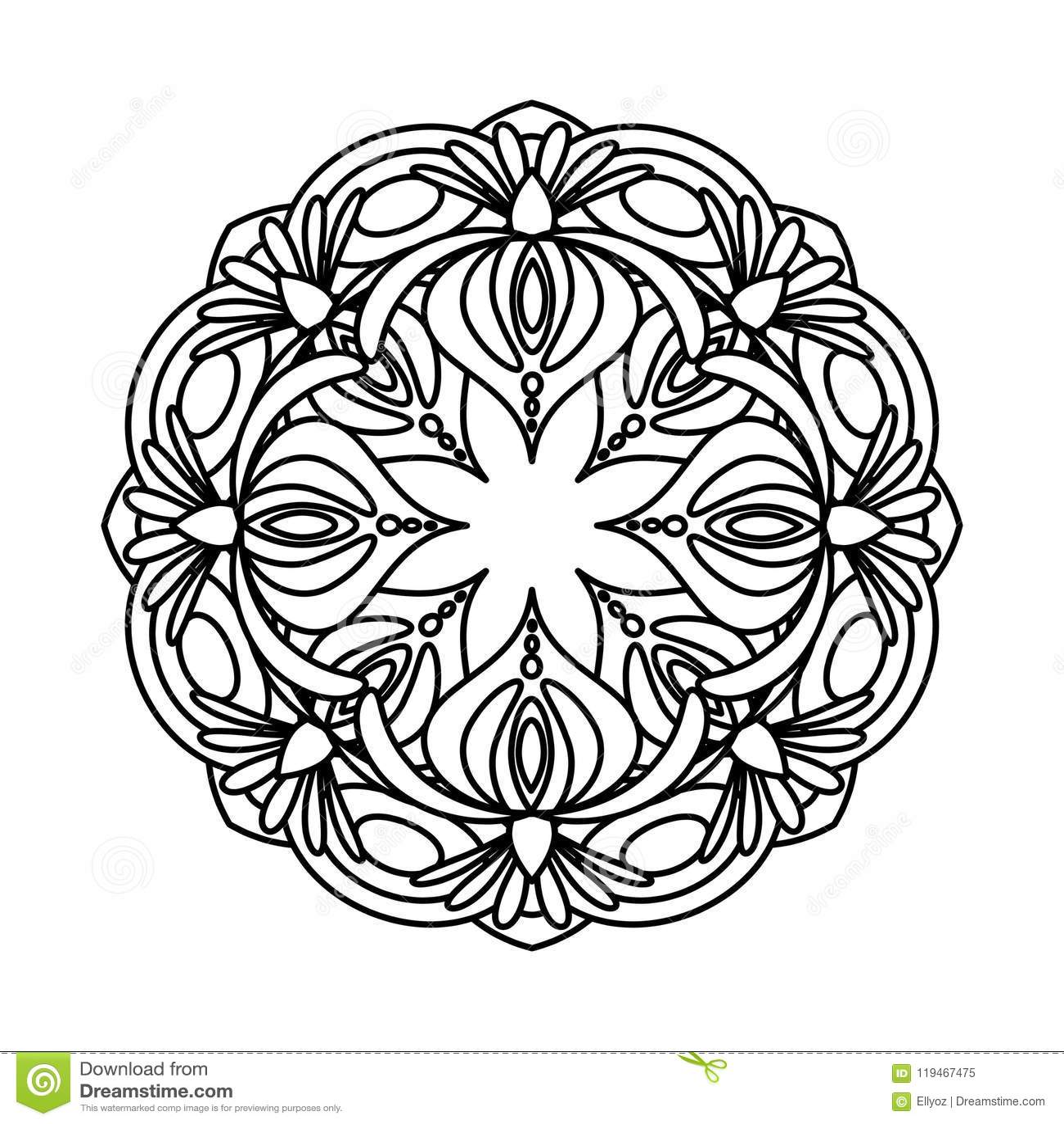 Flower Mandala Vector Illustration Stock Vector - Illustration of ...