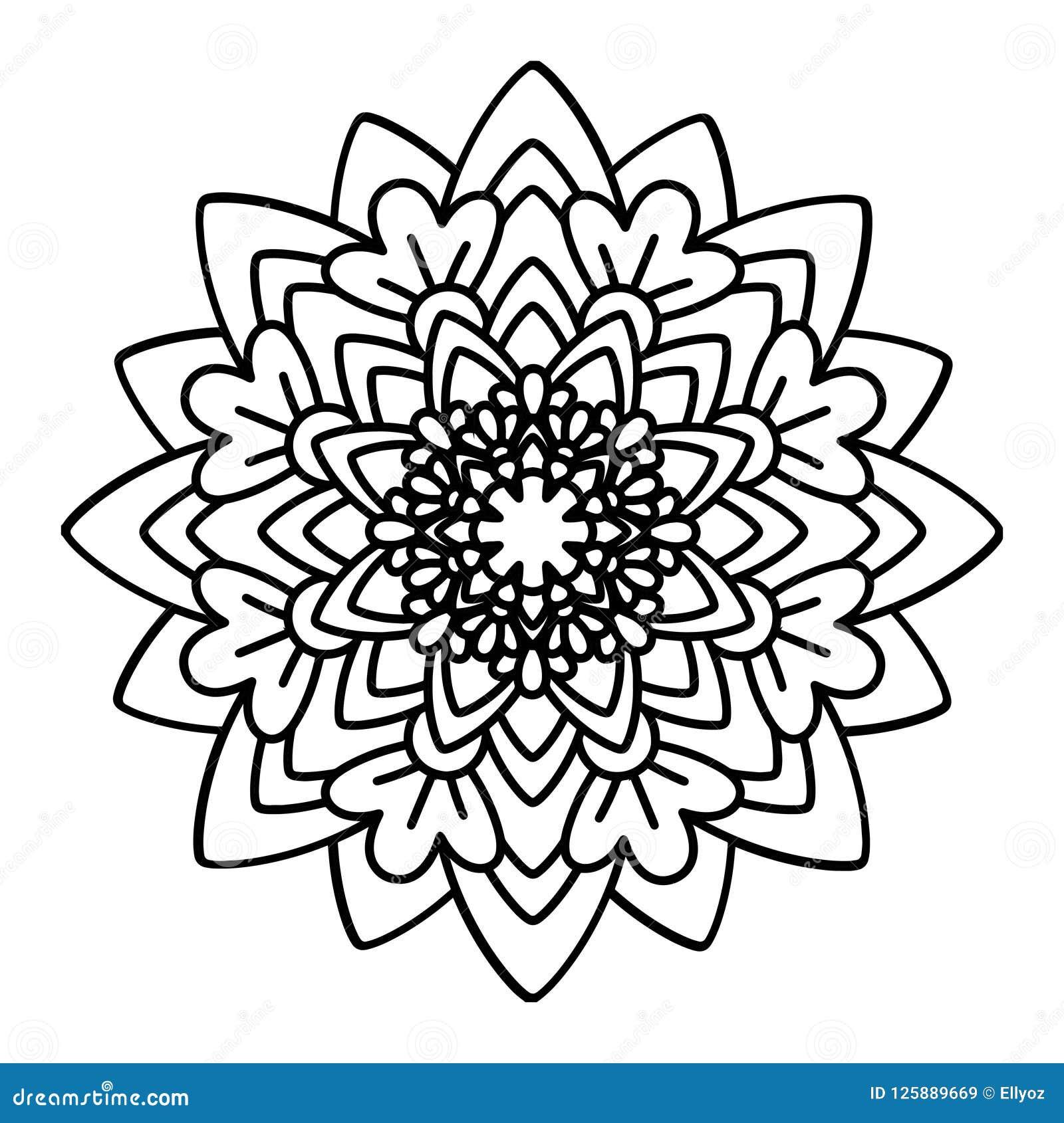 Download Flower Mandala Vector Illustration Stock