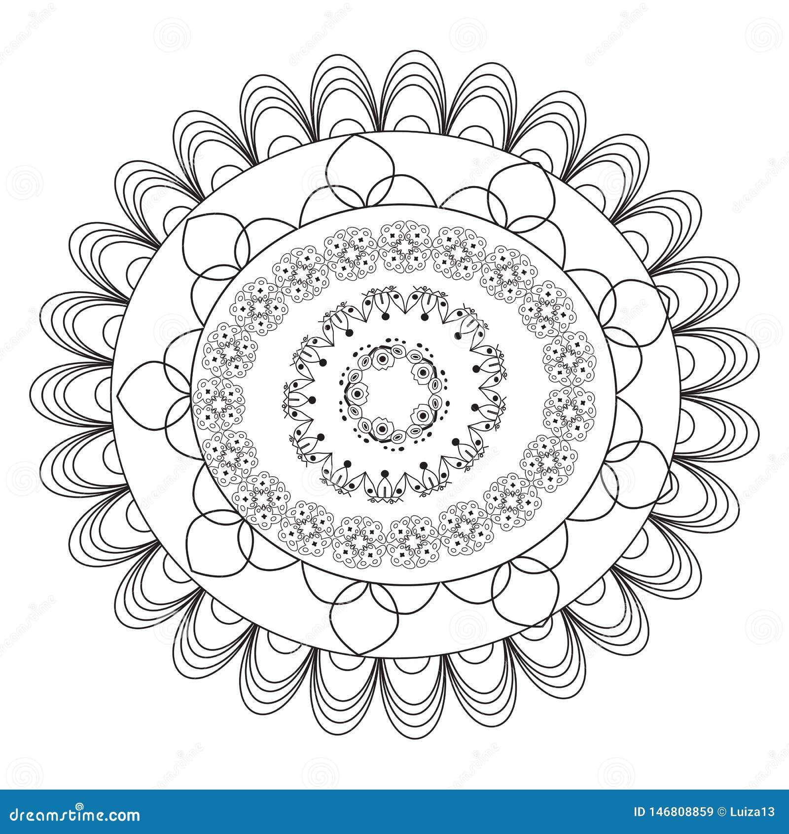 flower mandala vintage decorative elements oriental pattern vector illustration mandala coloring page circular pattern form