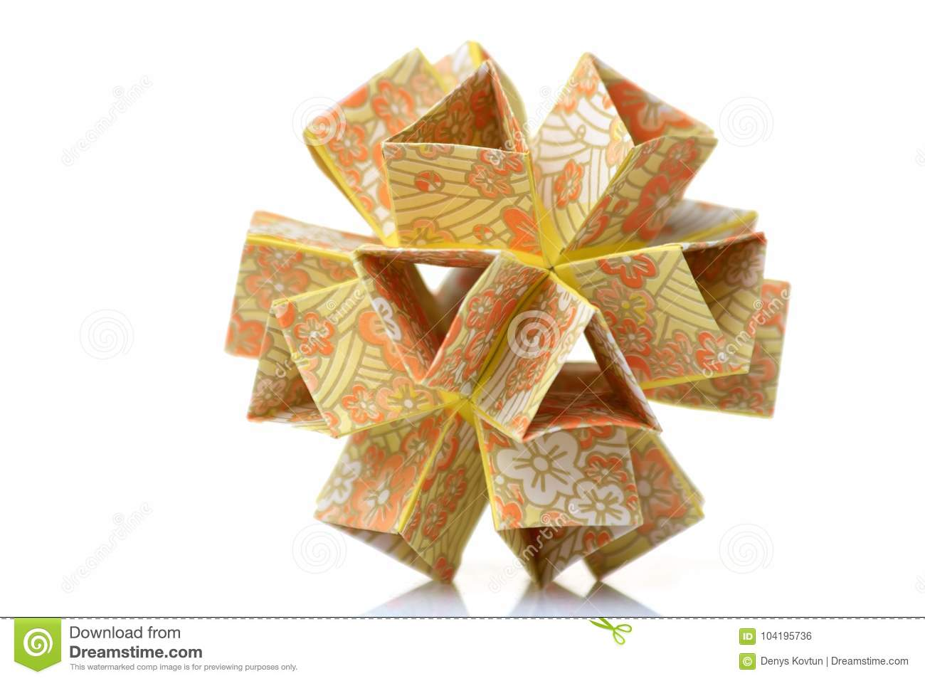 Flower Modular Origami Stock Photo Image Of Figure 104195736