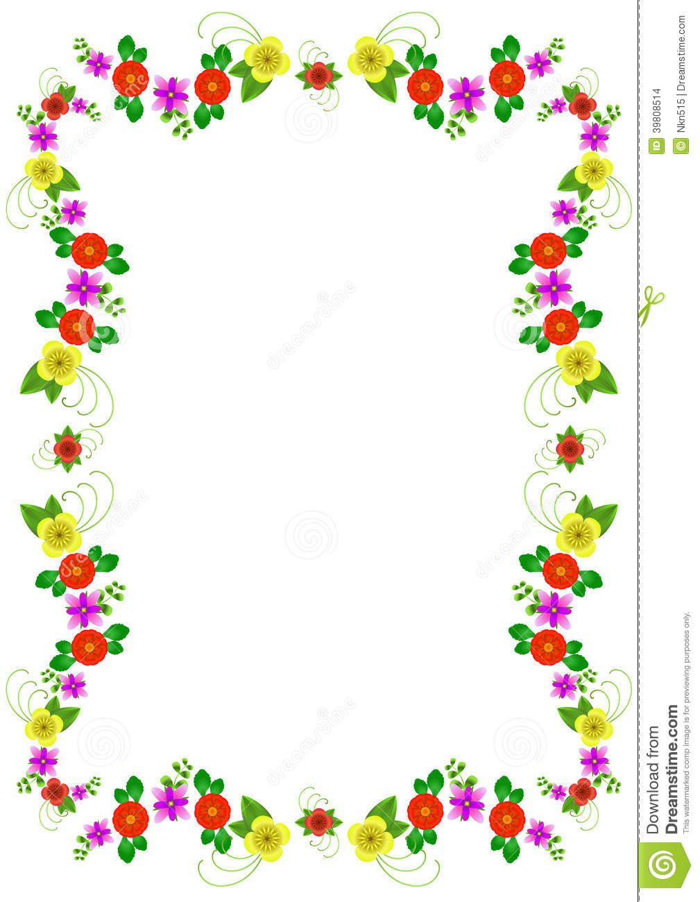 flower multi colored frame decorative bright flowers additional format png 39808514