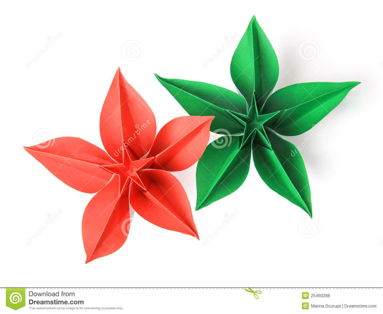 Flower Origami Royalty Free Stock s Image