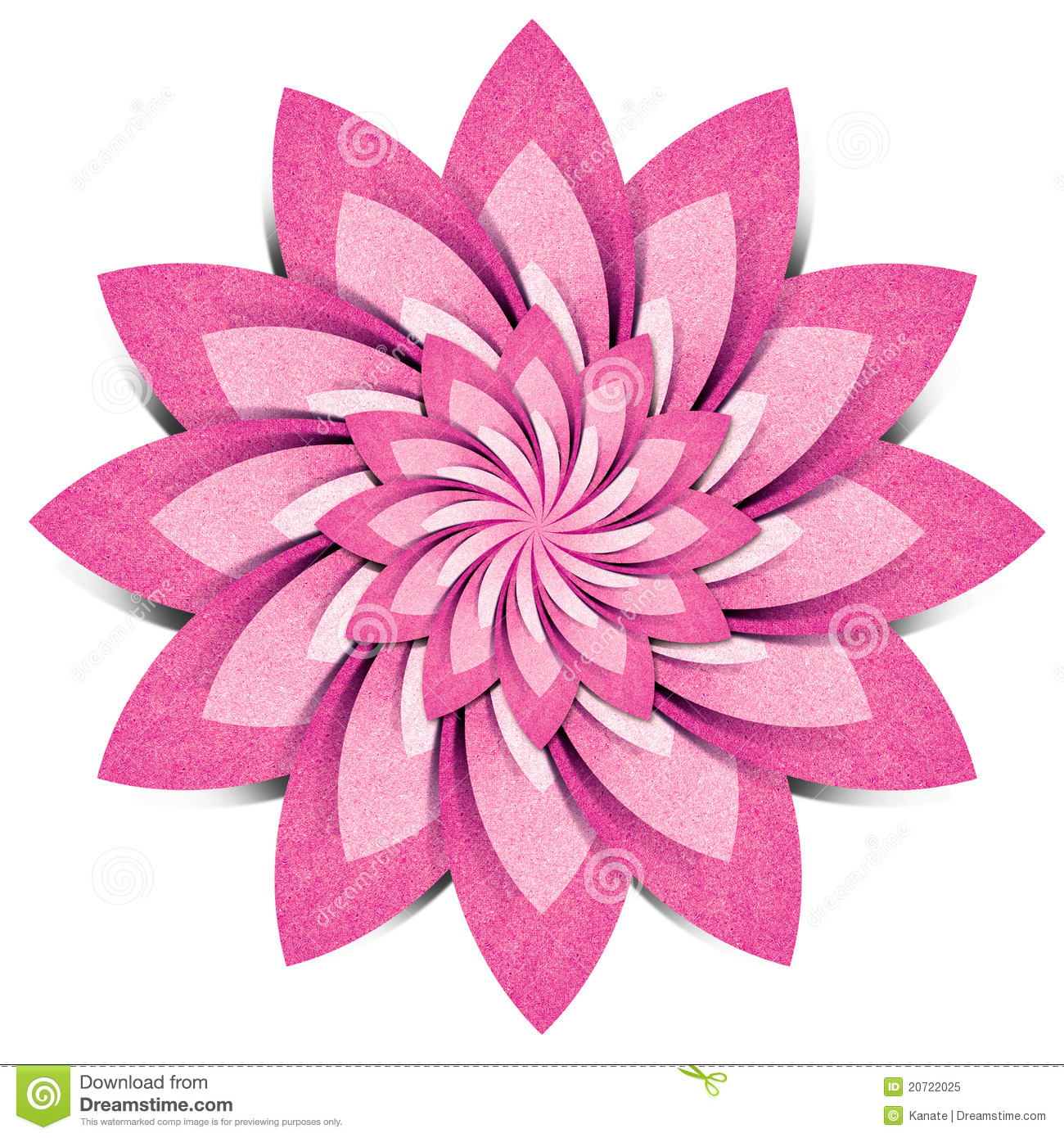 Flower Origami Recycled Paper Craft Stock Illustration
