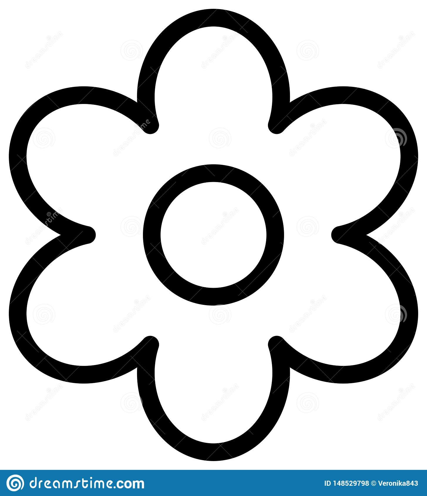 Flower Outline Drawing at PaintingValley.com | Explore