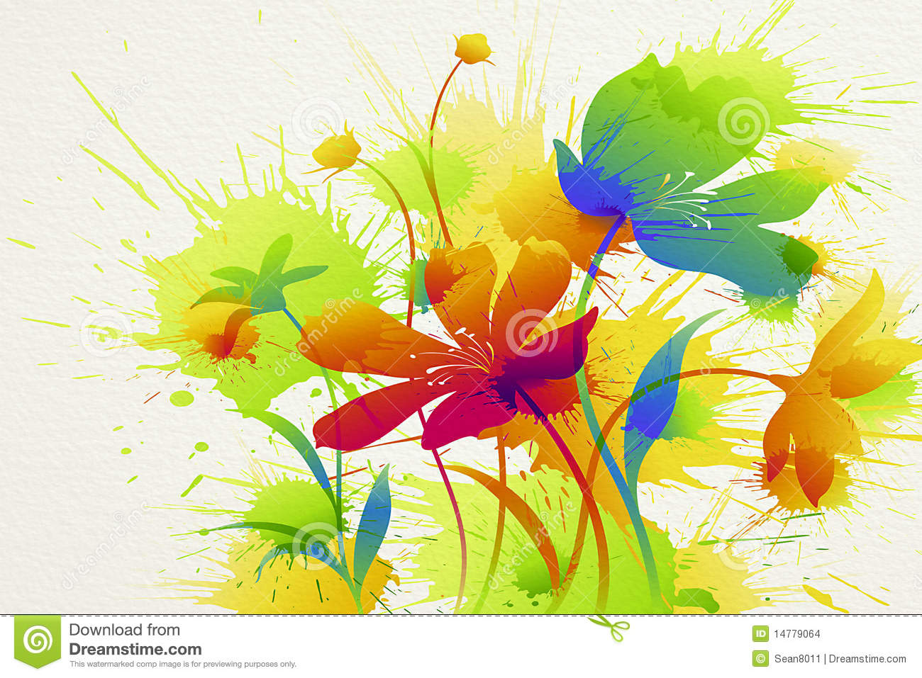 Flower Painting Stock Images - Image: 14779064