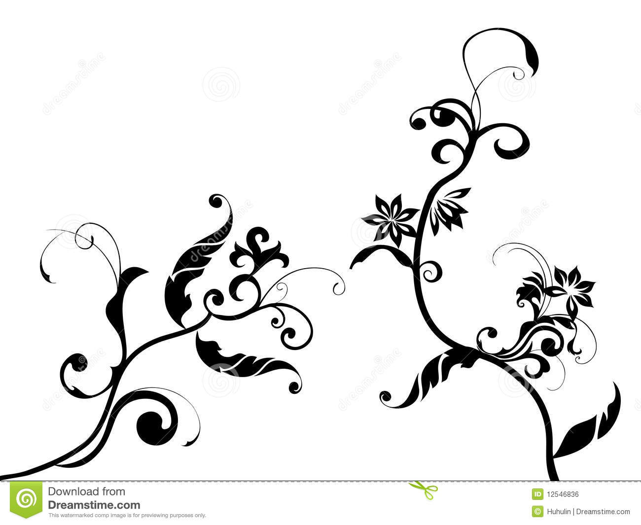Flower pattern stock vector illustration of flourishes 12546836 flower pattern thecheapjerseys Choice Image