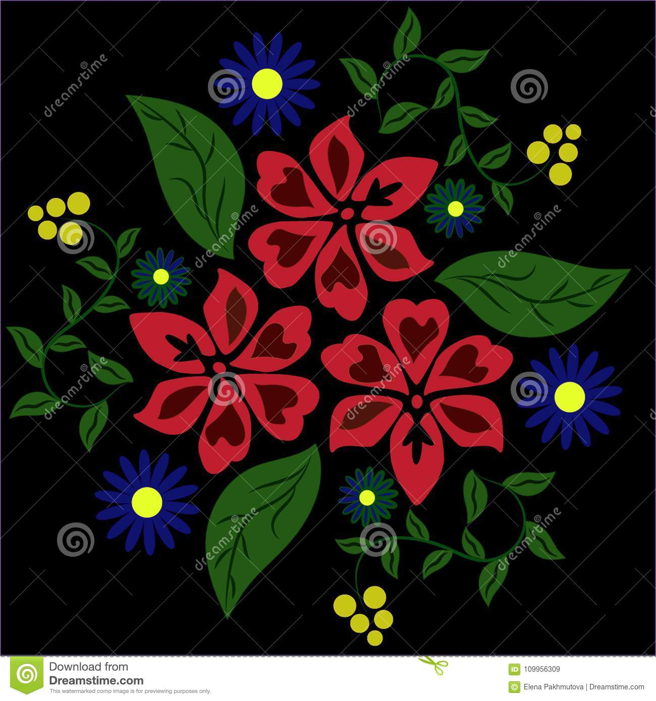 Flower Pattern Floral Flowers Illustration Abstract Seamless Nature