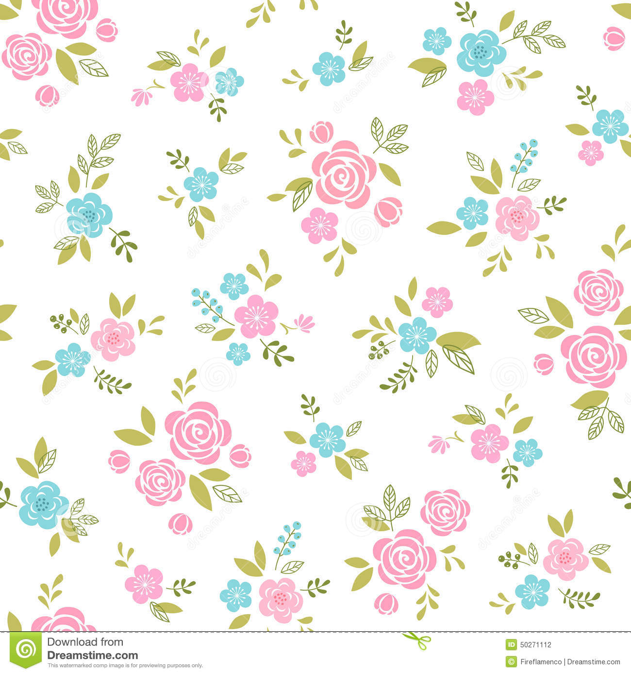 Floral pattern with pi...