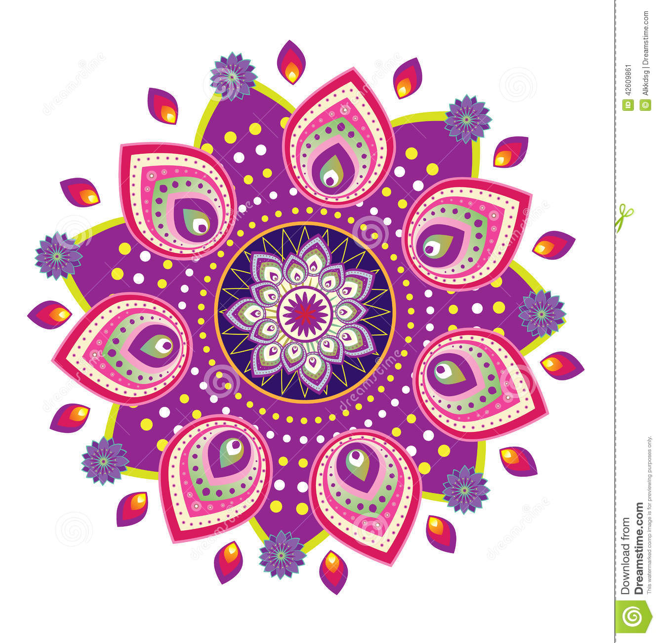 flower pattern mandala stock vector illustration of