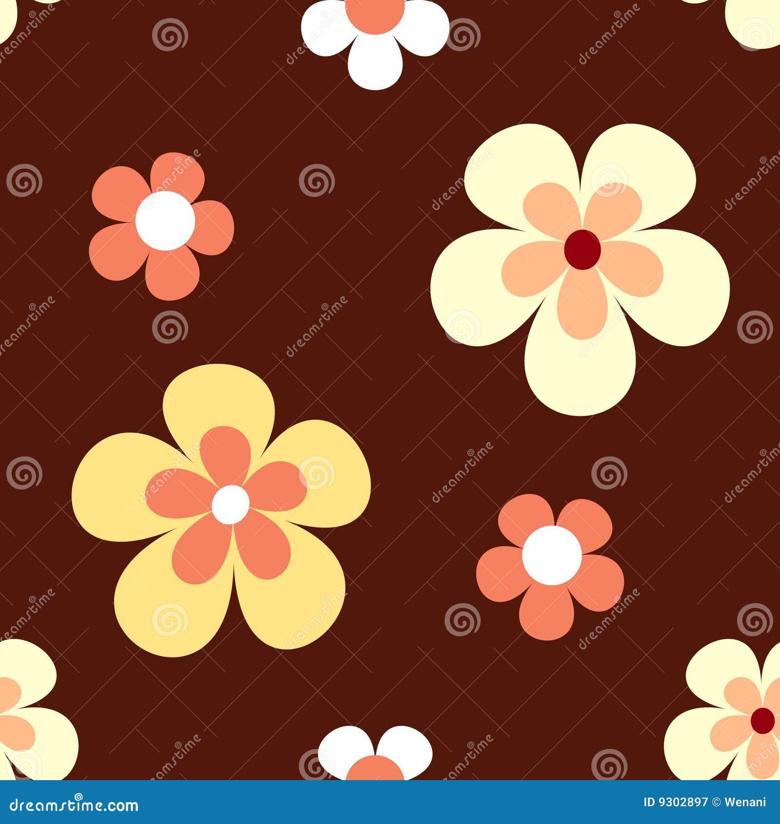 Flower pattern retro seamless