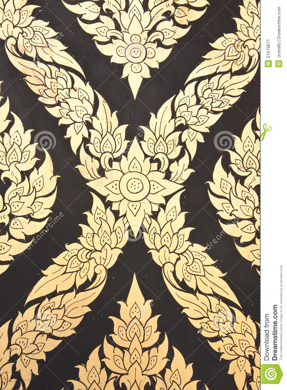 Flower pattern in traditional