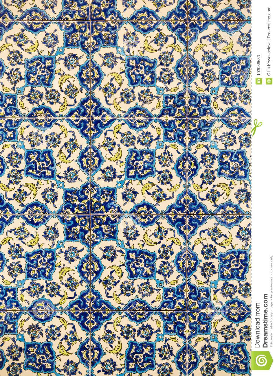 flower patterns on ceramic tiles in the old turkish style. Black Bedroom Furniture Sets. Home Design Ideas