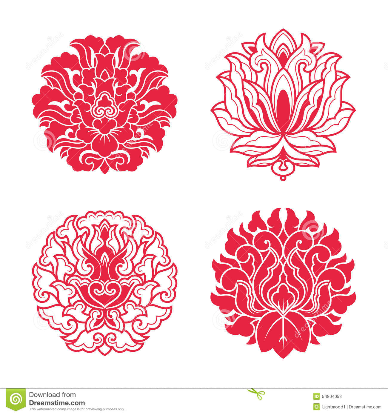 fe084f790 Flower Patterns Of Chinese Style Stock Illustration - Illustration ...