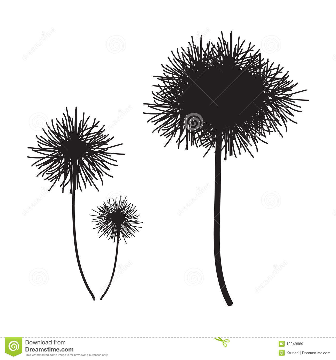 Flower Plant Vector Silhouette Royalty Free Stock Image
