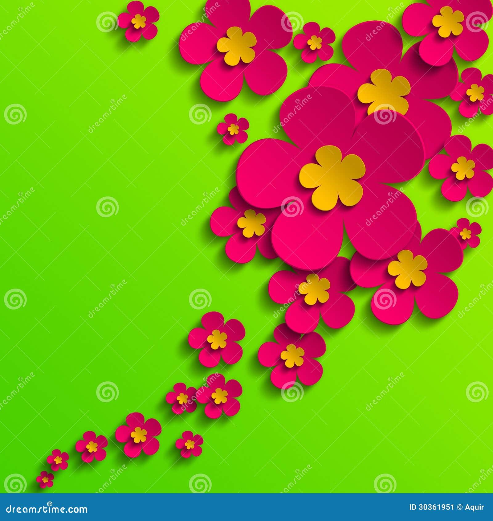 Flower Poster Stock Illustration. Illustration Of