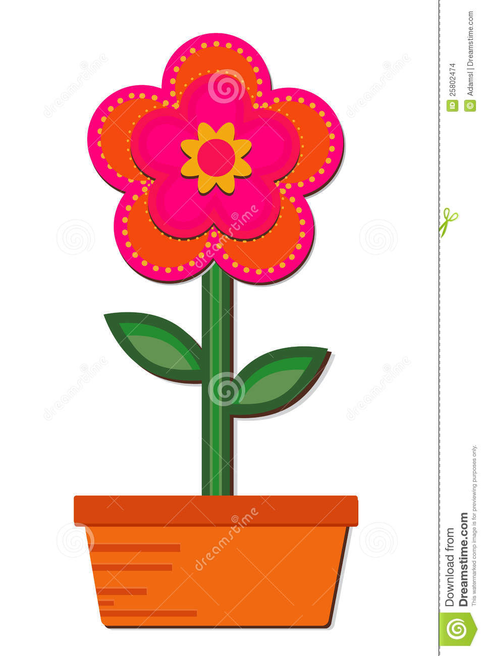 Flower In A Pot Stock Images Image 25802474