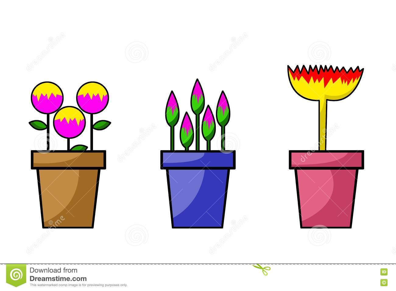 Flower pot cartoon illustration stock illustration illustration of download comp izmirmasajfo