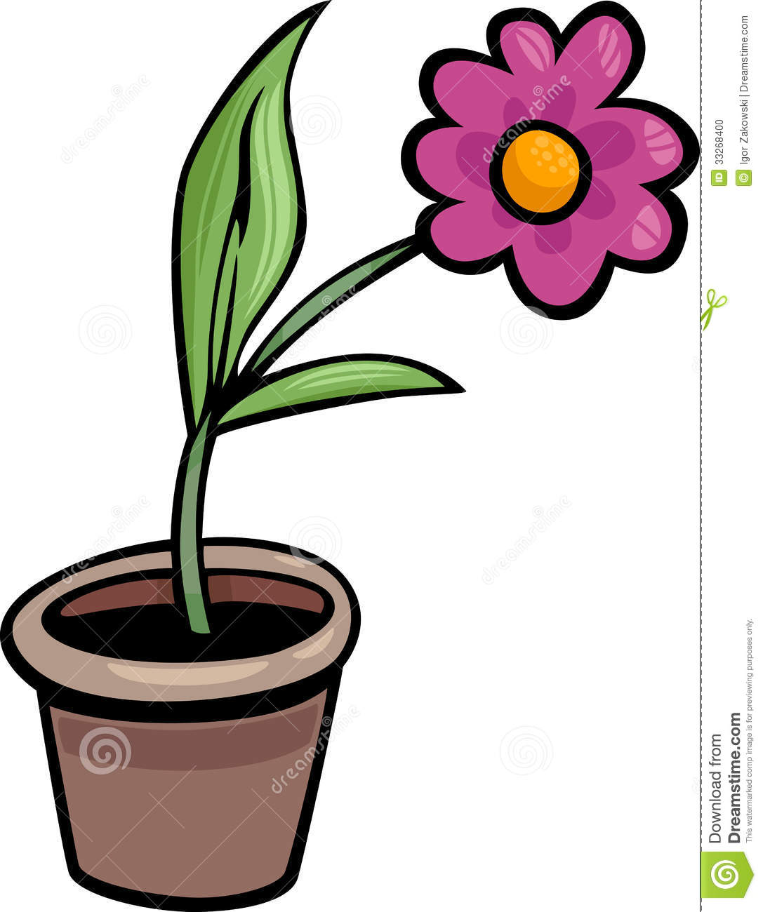 clipart flower in pot - photo #16