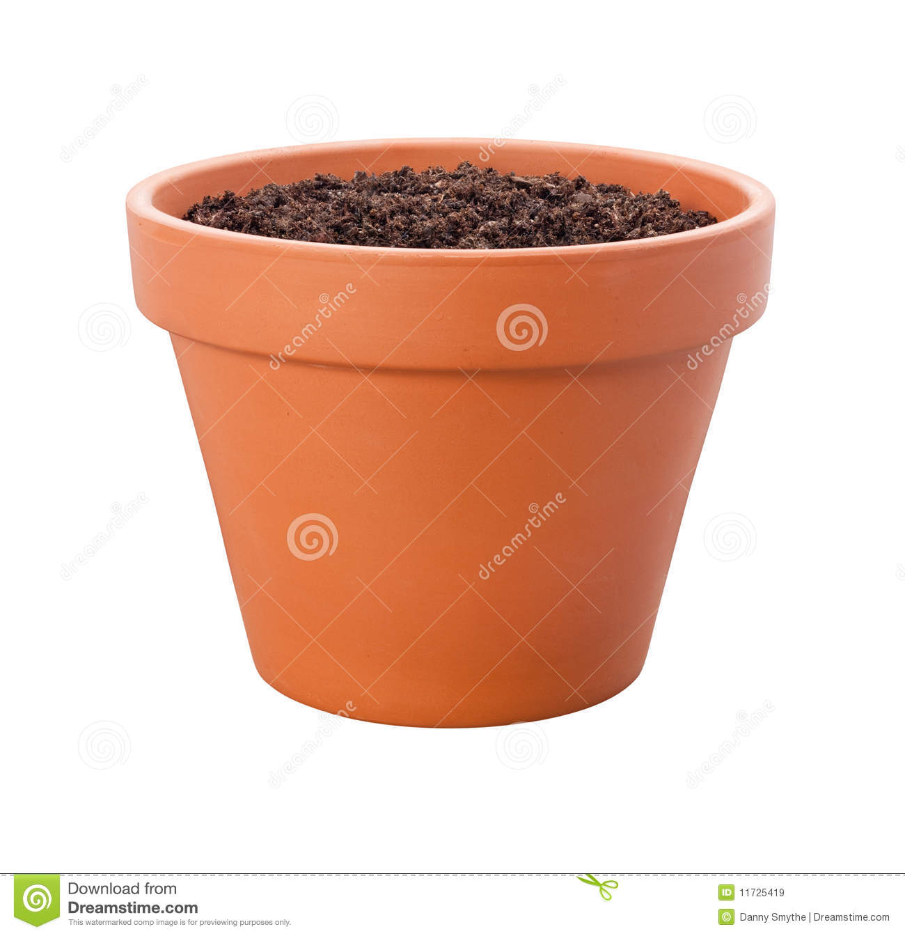 Flower Pot With Clipping Path Royalty Free Stock Images