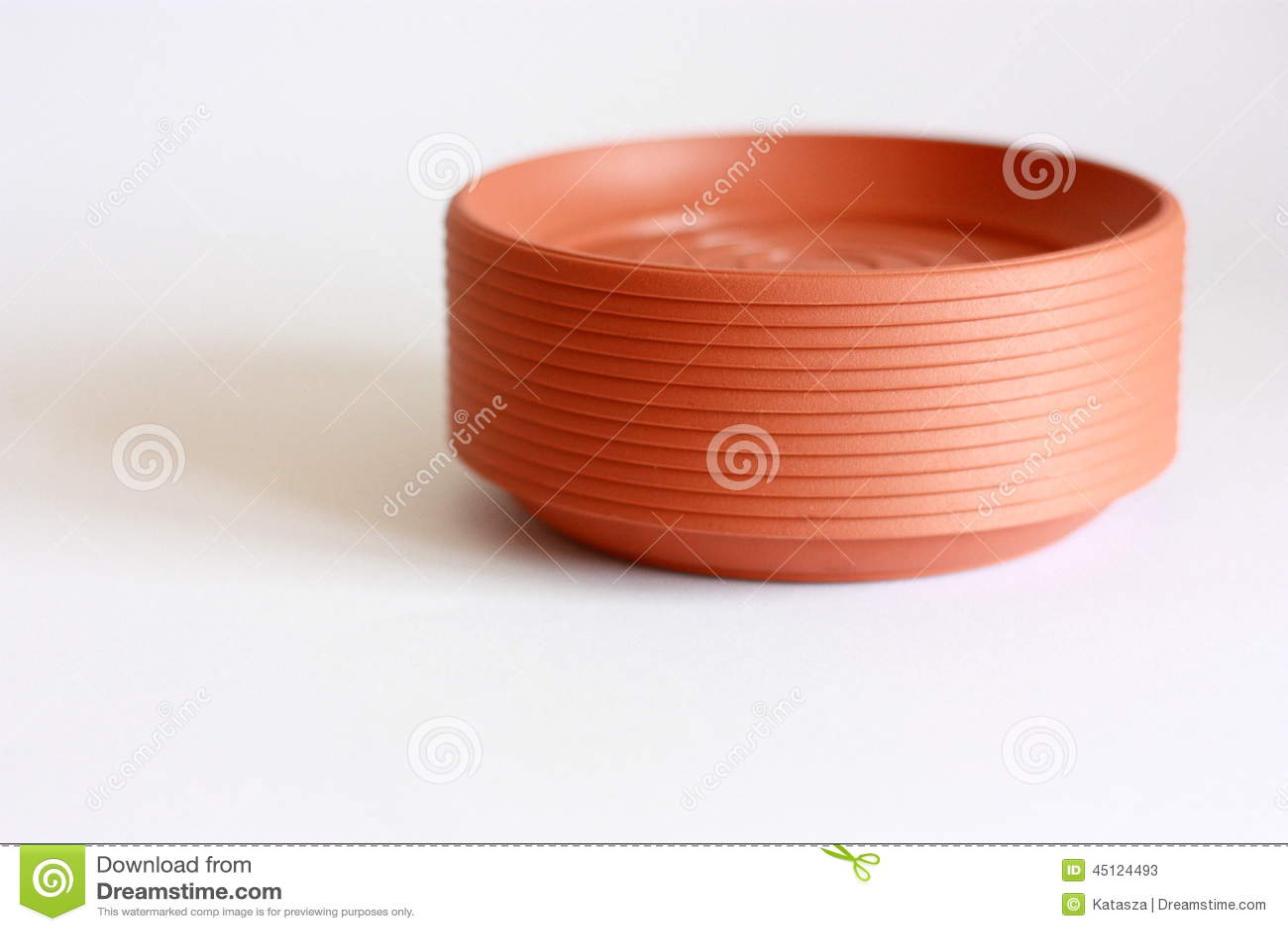 Dreamstime.com & Flower pot saucers stock image. Image of saucer empty - 45124493