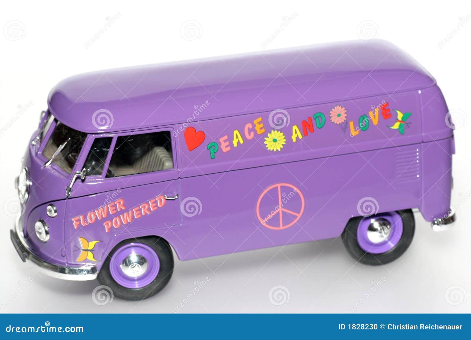 Flower power toy VW bus