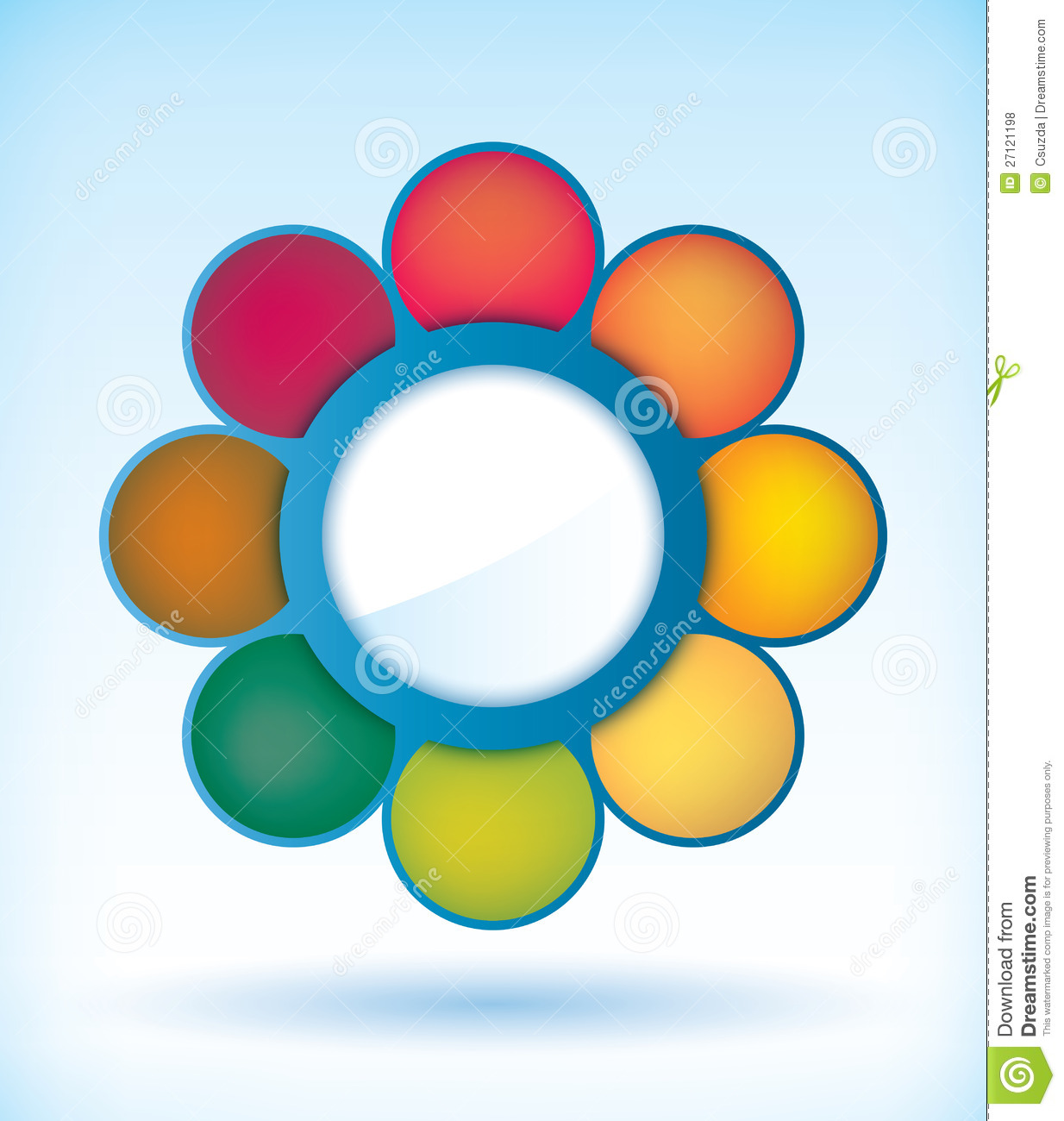 flower presentation diagram stock vector illustration of