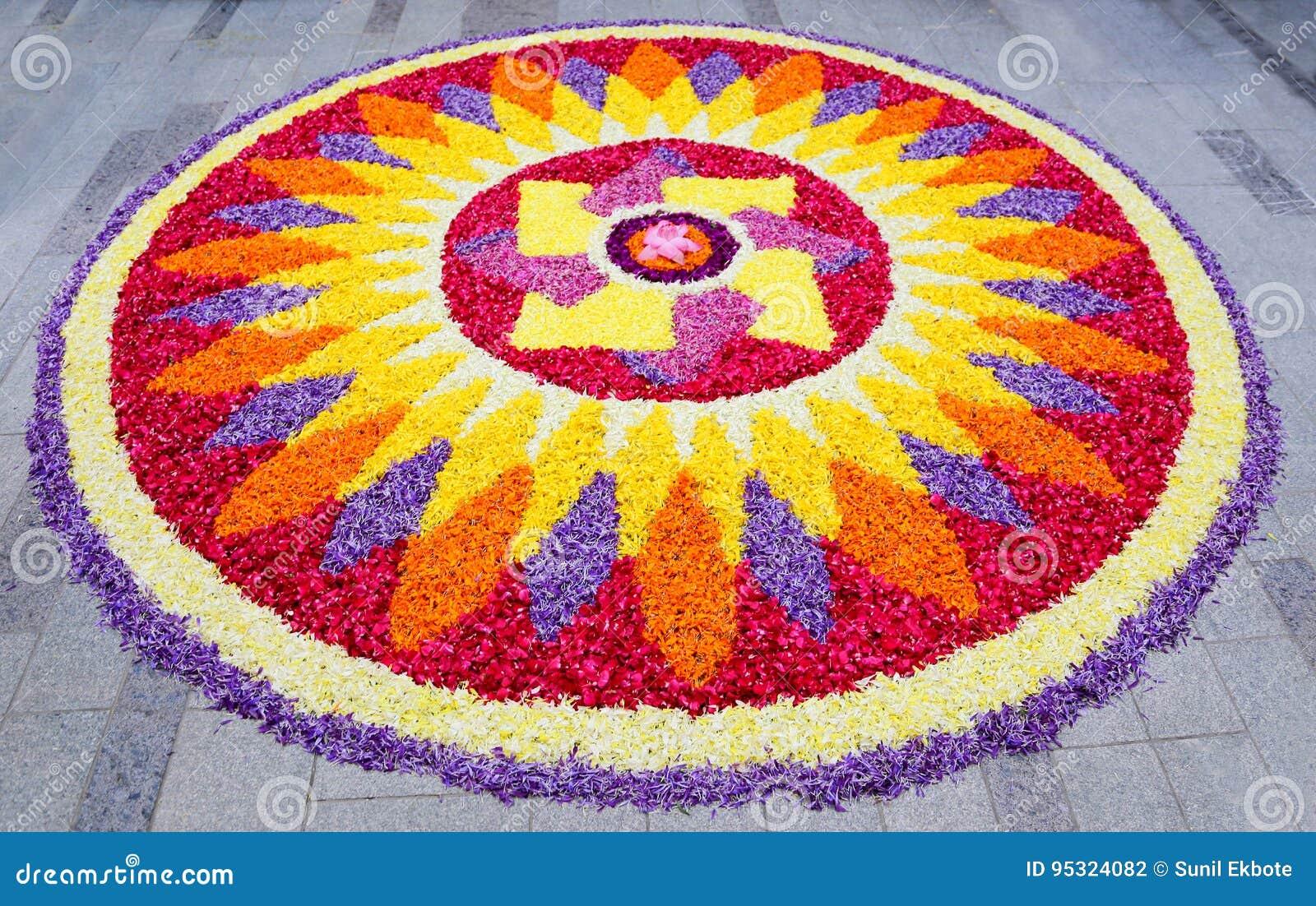 Flower Rangoli Stock Photo Image Of India Onam Hinduism 95324082