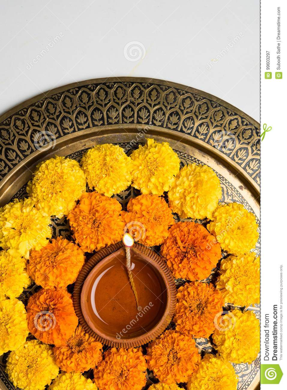 Flower Rangoli For Diwali Or Pongal Or Onam Made Using Marigold Or Zendu Flowers And Red Rose Petals Over White Background With Di Stock Image Image Of Background India 99603297