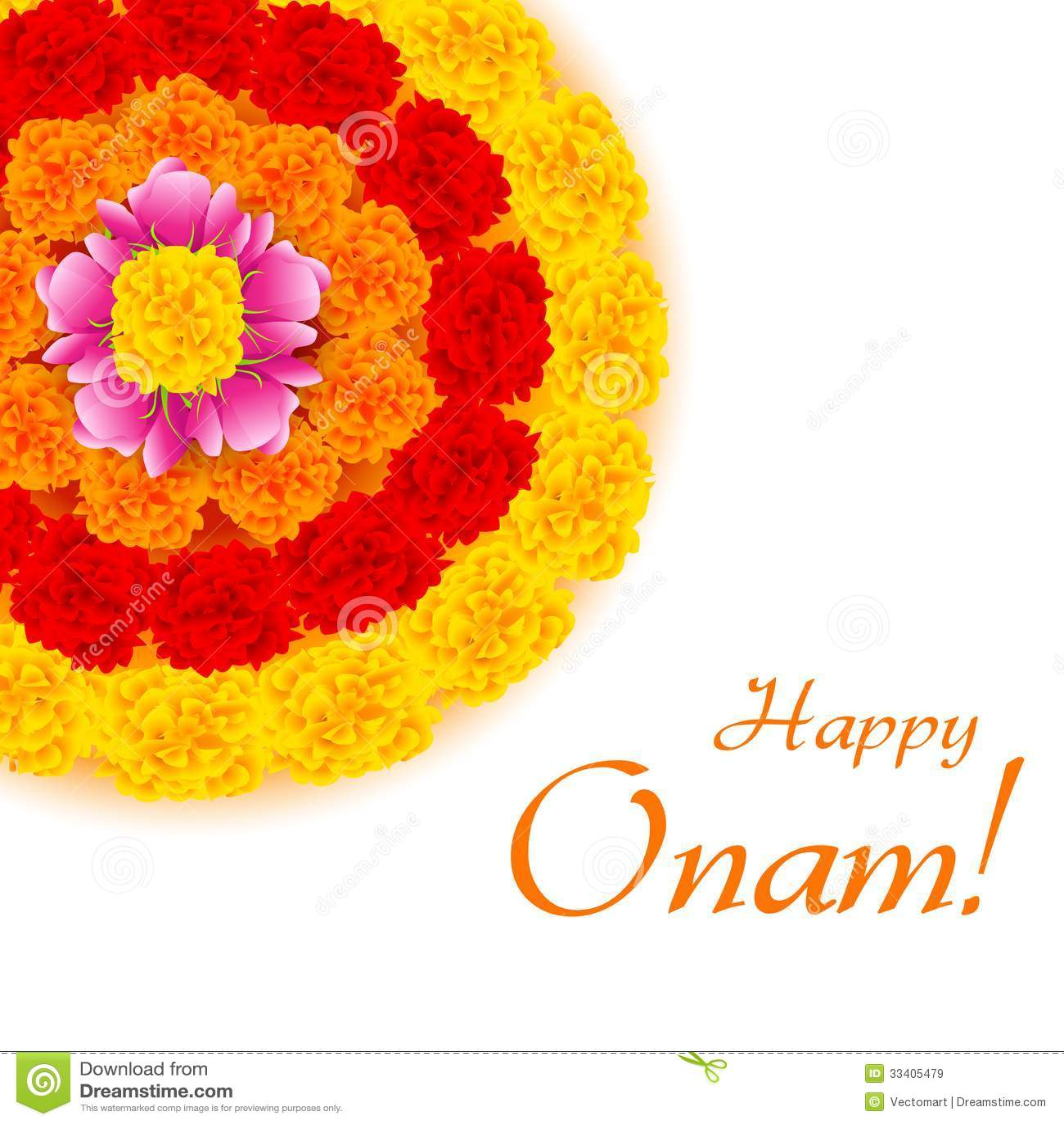 Flower rangoli for onam stock vector illustration of occasion flower rangoli for onam occasion invitation kristyandbryce Image collections