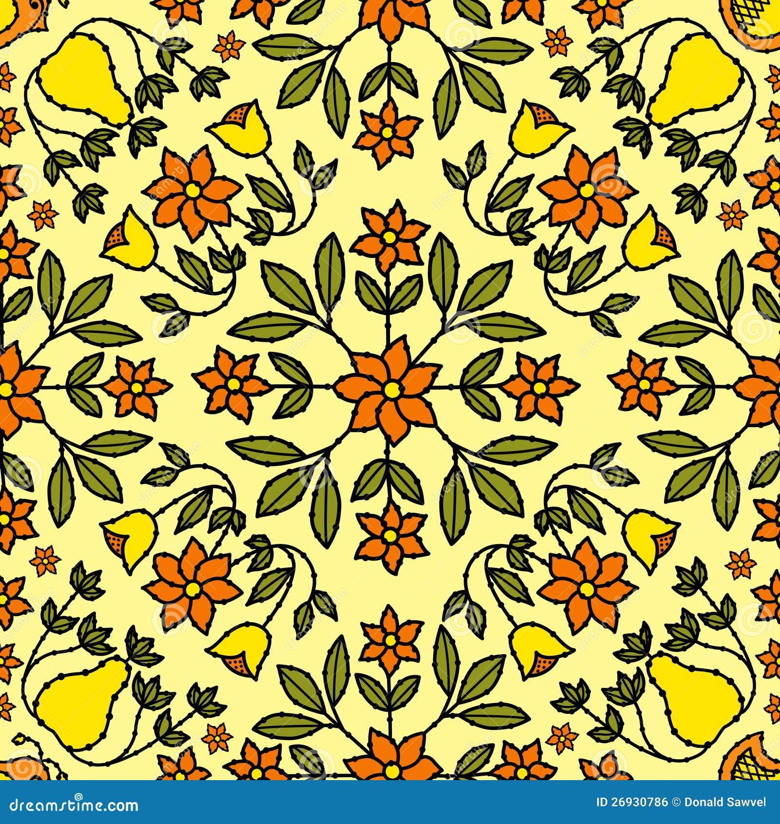 Flower Retro Background Stock Vector. Illustration Of