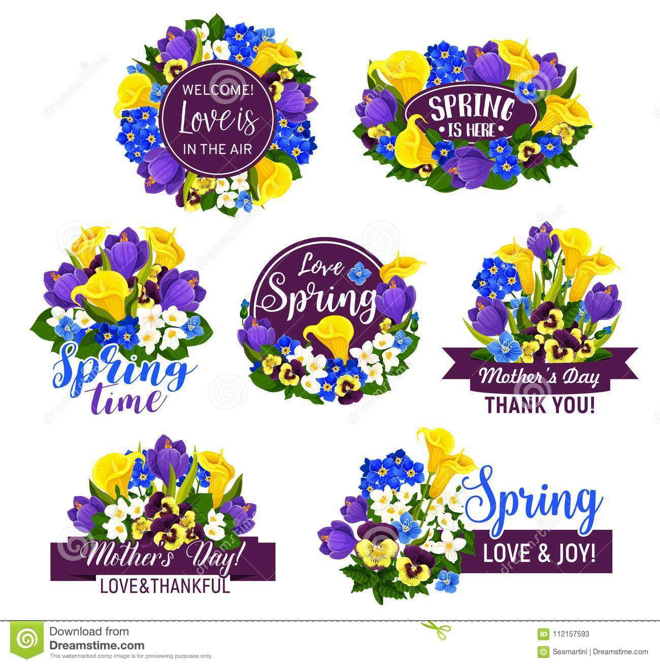 Flower with ribbon icon for greeting card design stock vector download comp izmirmasajfo