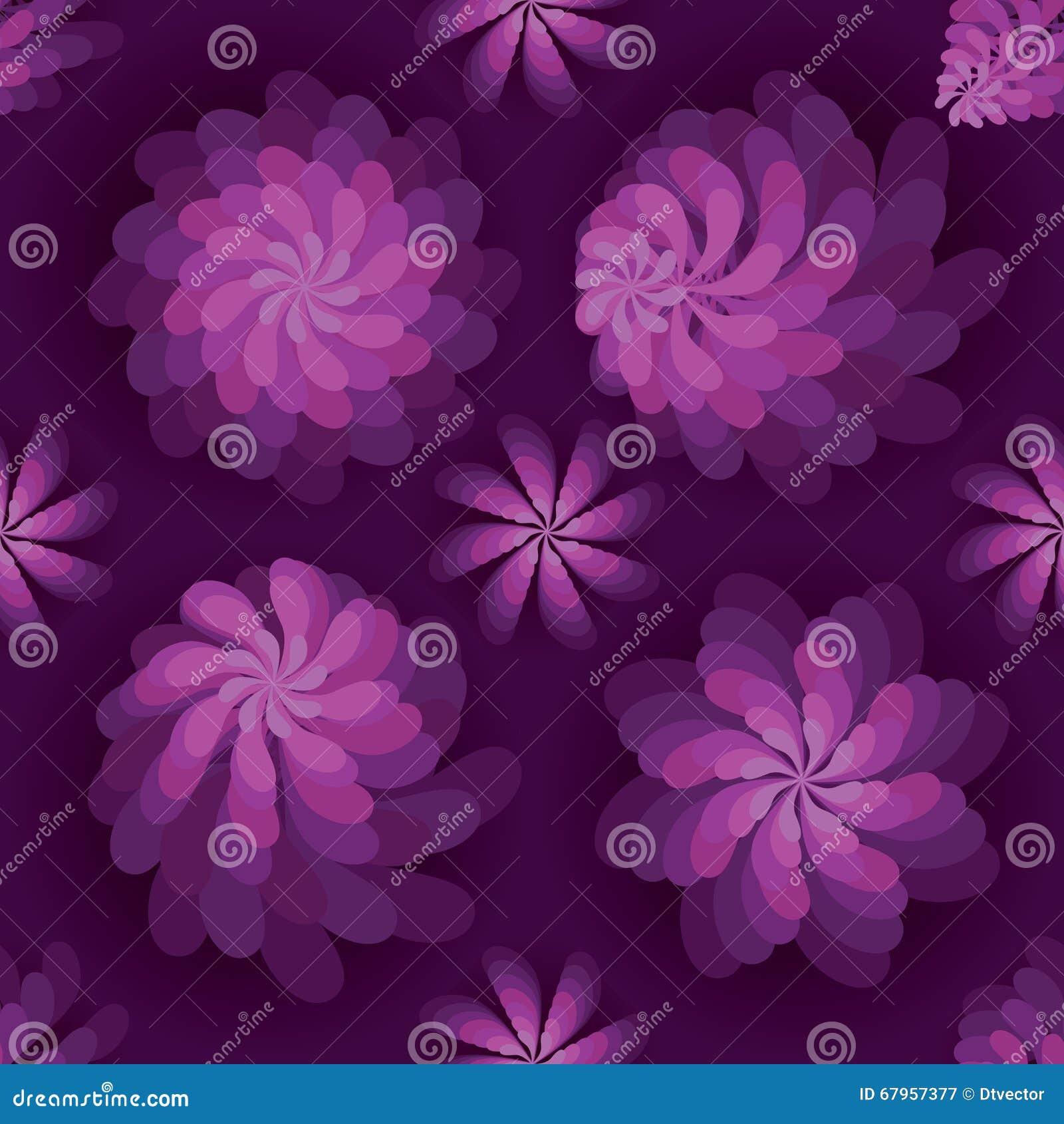 Flower rotate windmill purple mist seamless pattern