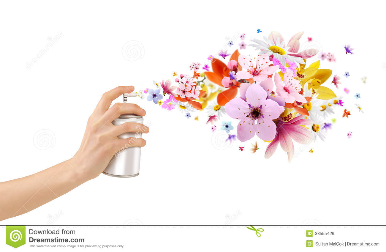 Royalty Free Stock Image: Flower-scented room sprays and flowers from ...