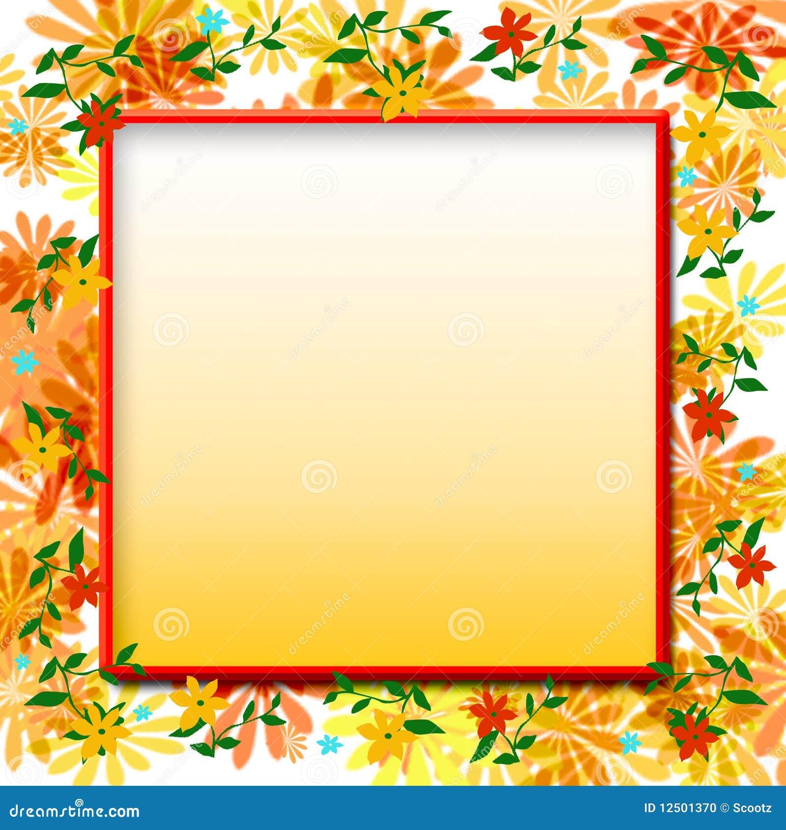 4fe821657a5 Flower scrapbook frame stock illustration. Illustration of grow ...