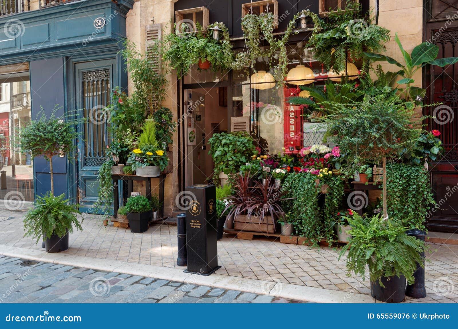 flower shop in bordeaux france editorial photo image. Black Bedroom Furniture Sets. Home Design Ideas