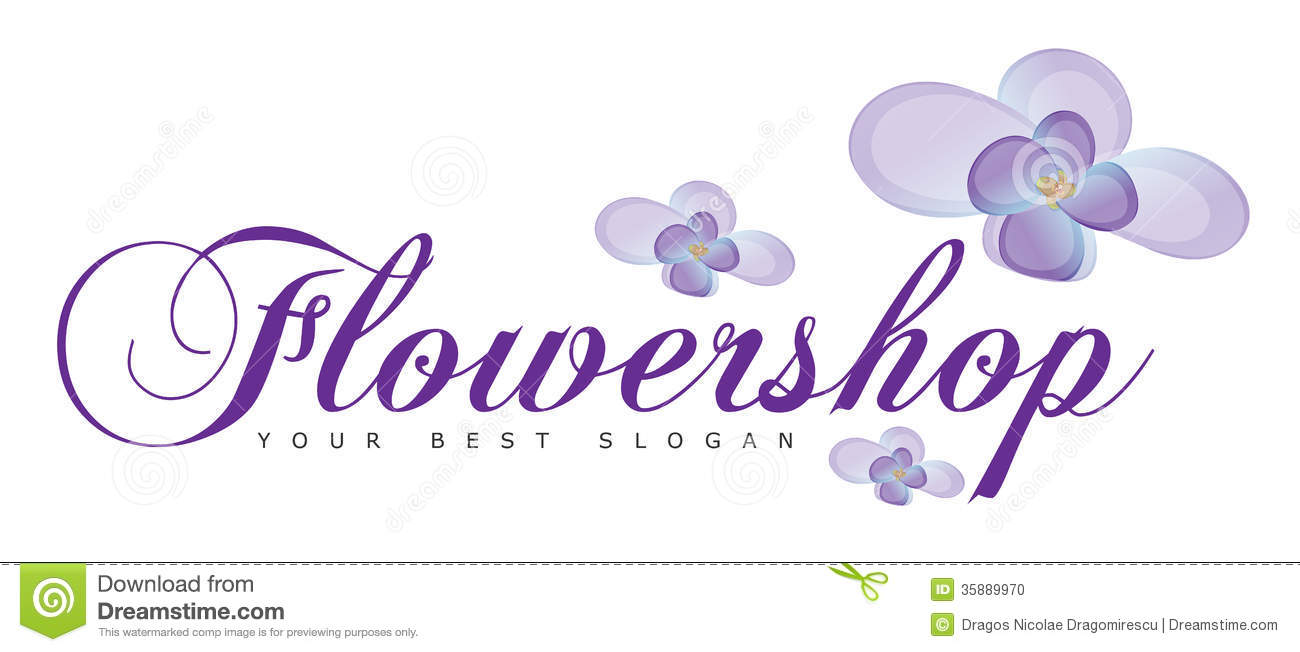 Flower Shop Or Flowers Logo Concept Stock Photo Image