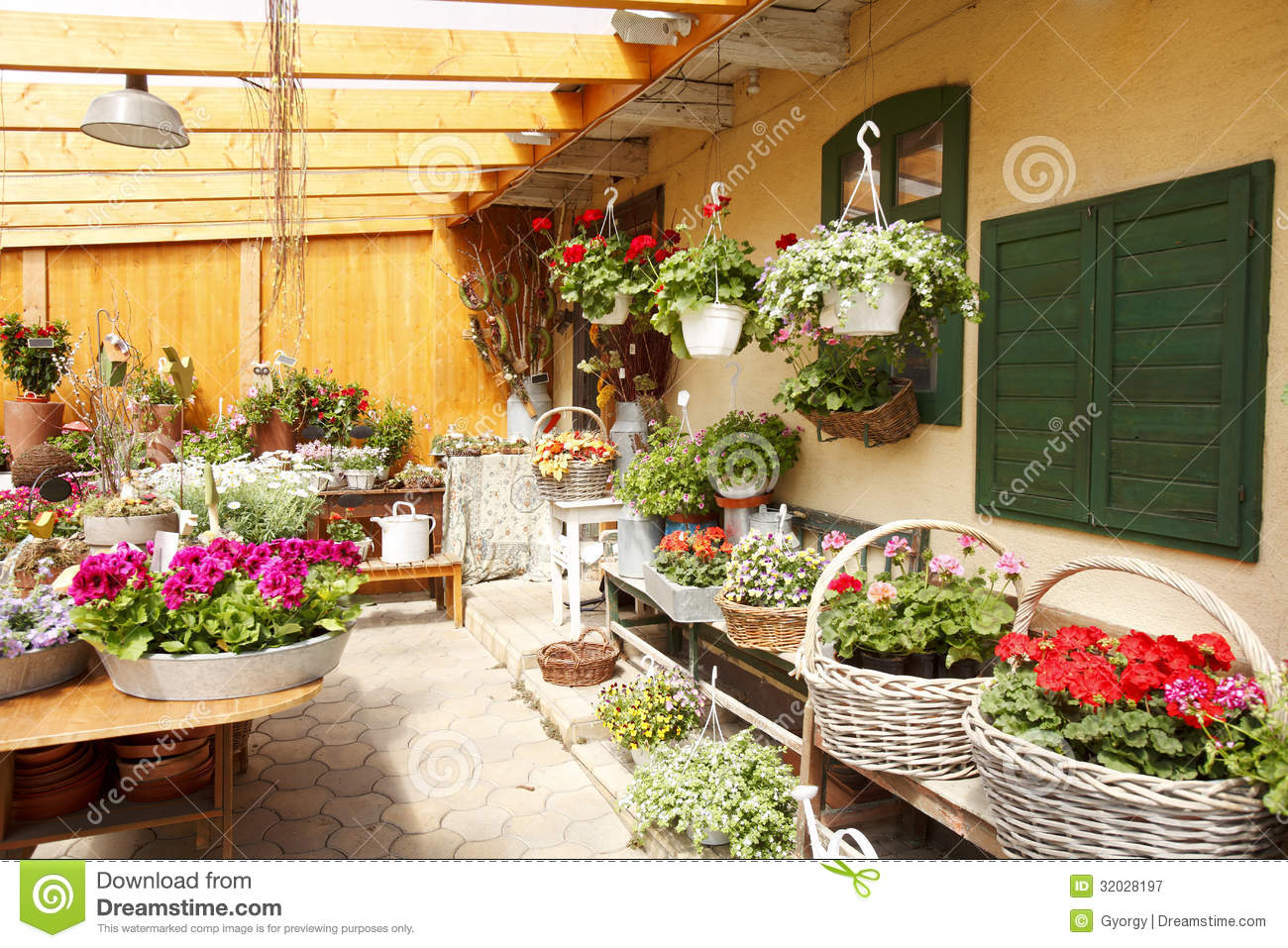 Flower Shop Interior Stock Image Image Of Objects Beautiful 32028197