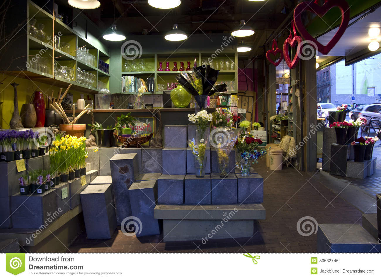 Flower Shop Interior Lighting Editorial Photo Image Of
