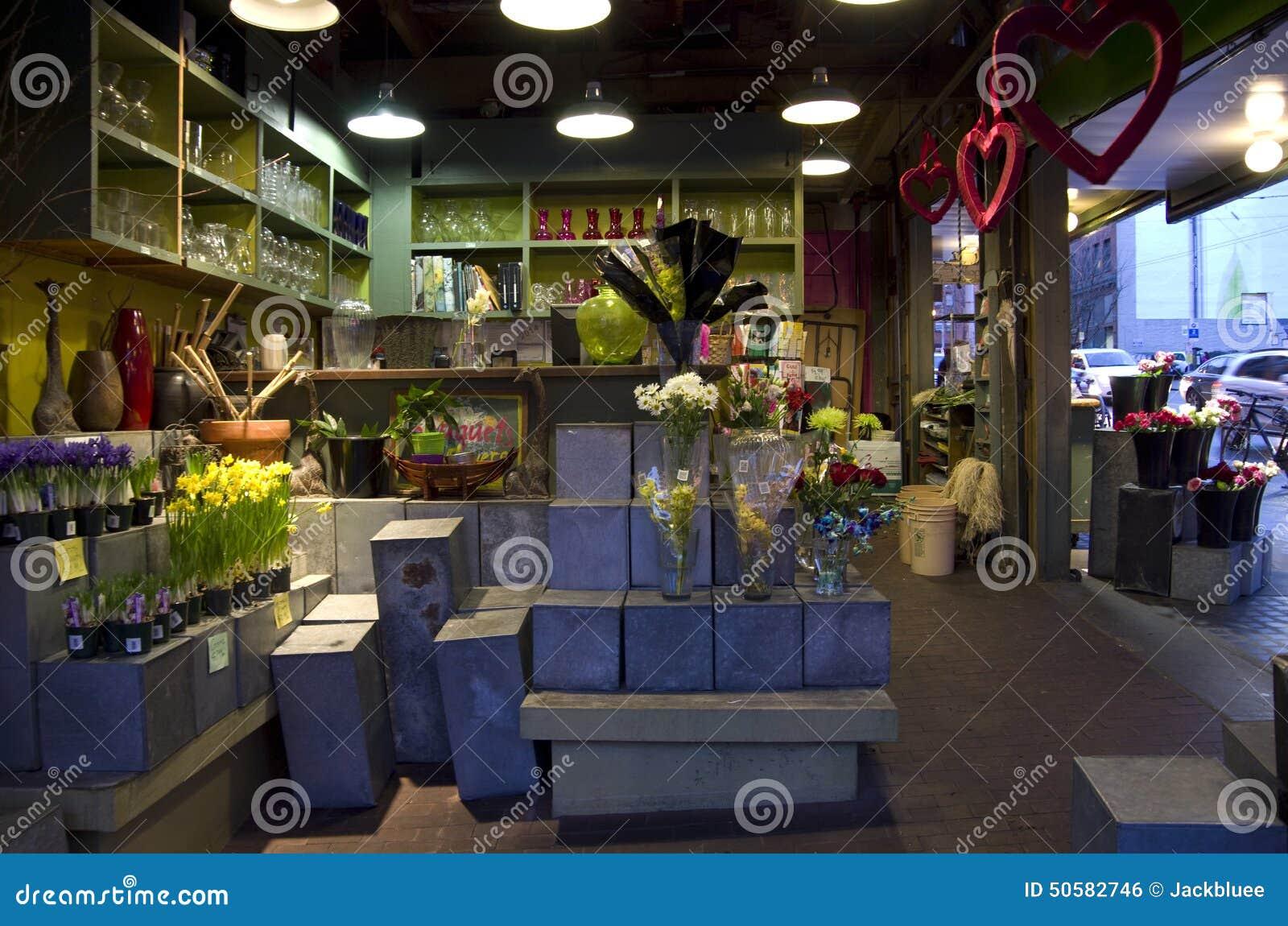 Flower shop interior lighting editorial photo image for Designs east florist interior