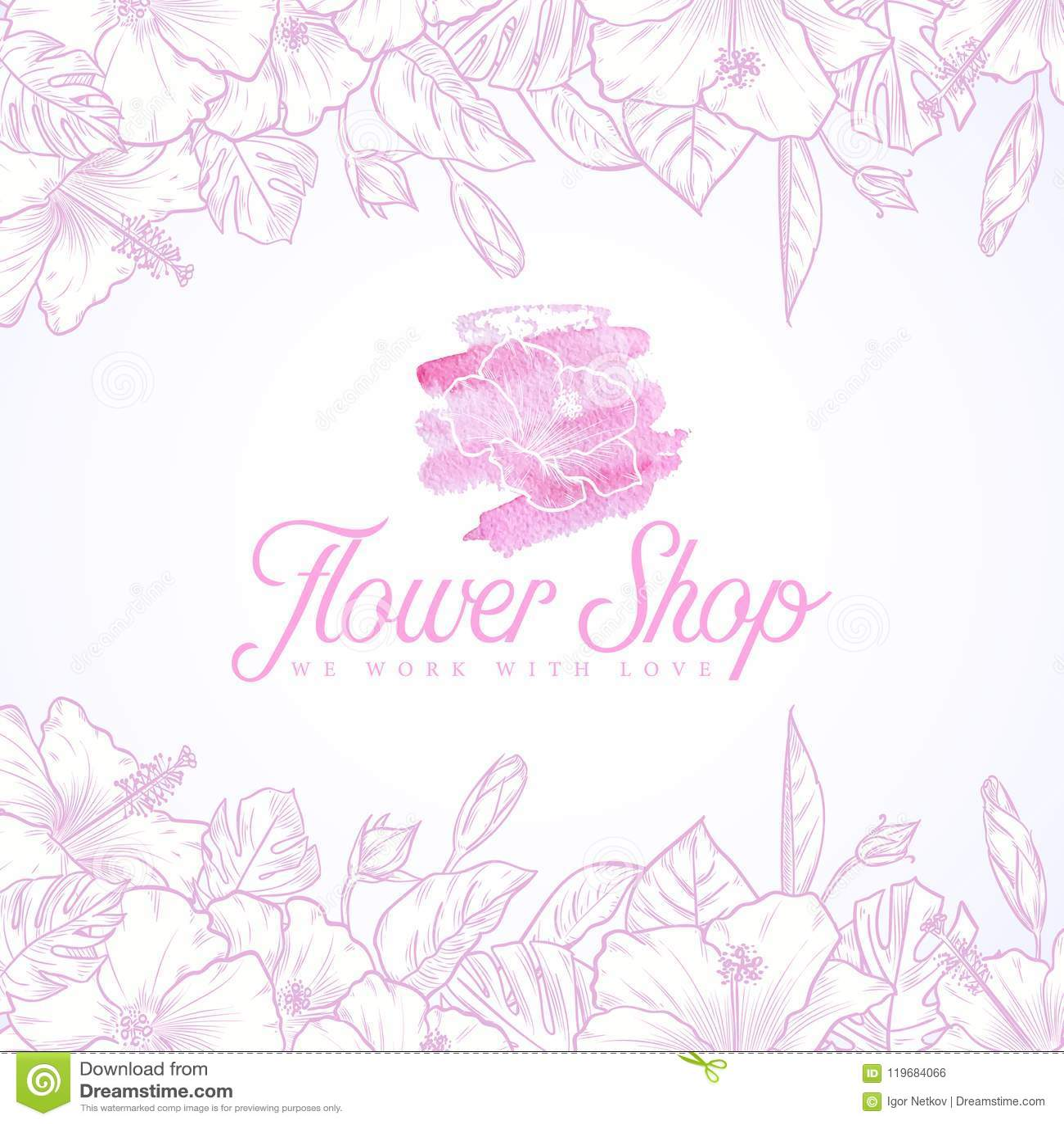 Flower Shop Logo Stock Vector Illustration Of Green 119684066