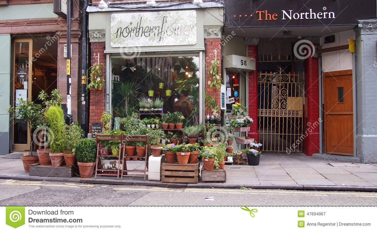 Flower Shop In The Northern Quarter, Manchester, England Editorial ...