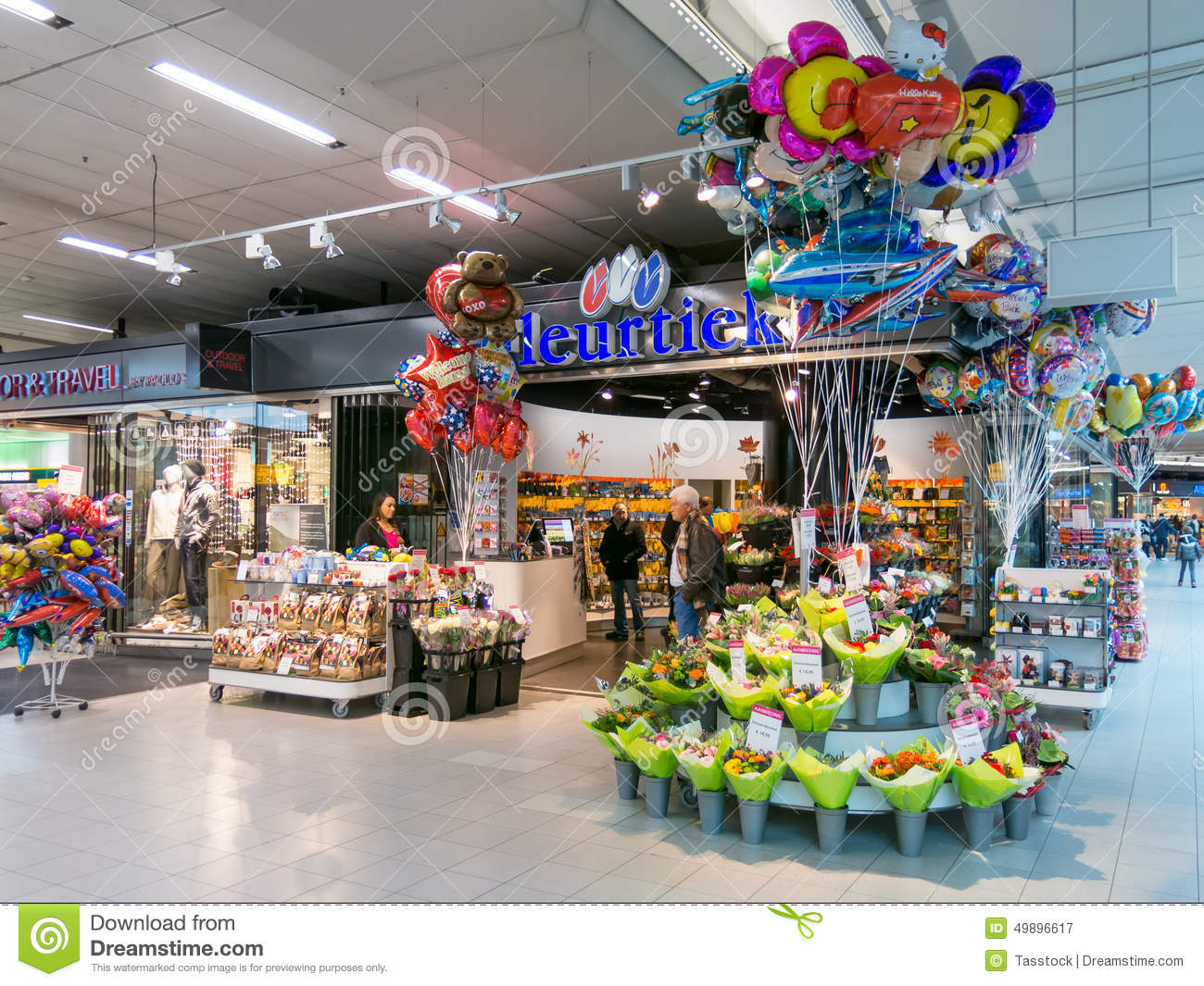 Flower Shop At Schiphol Amsterdam Airport Holland Editorial graphy Im