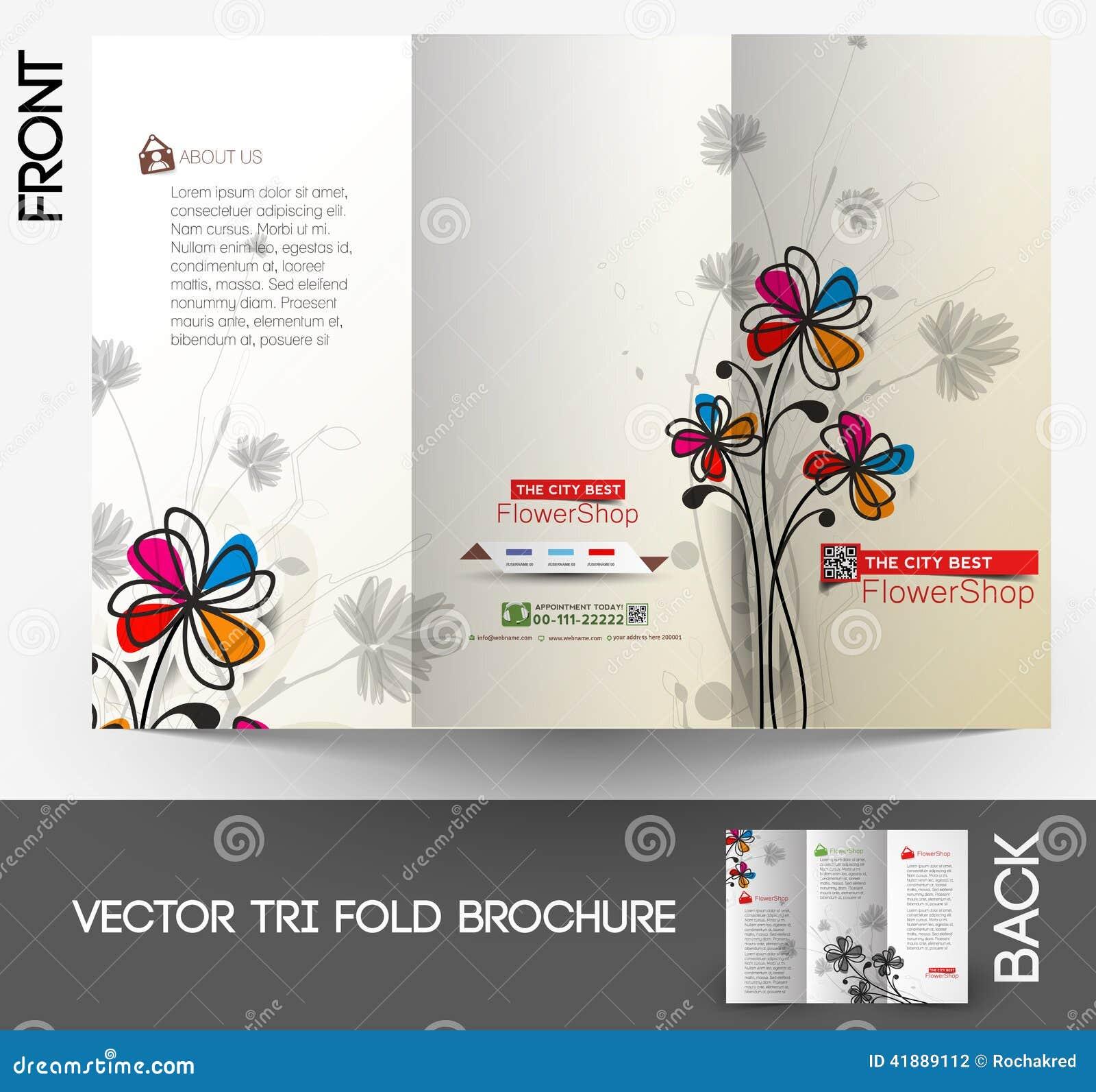 Flower shop Tri-Fold Brochure