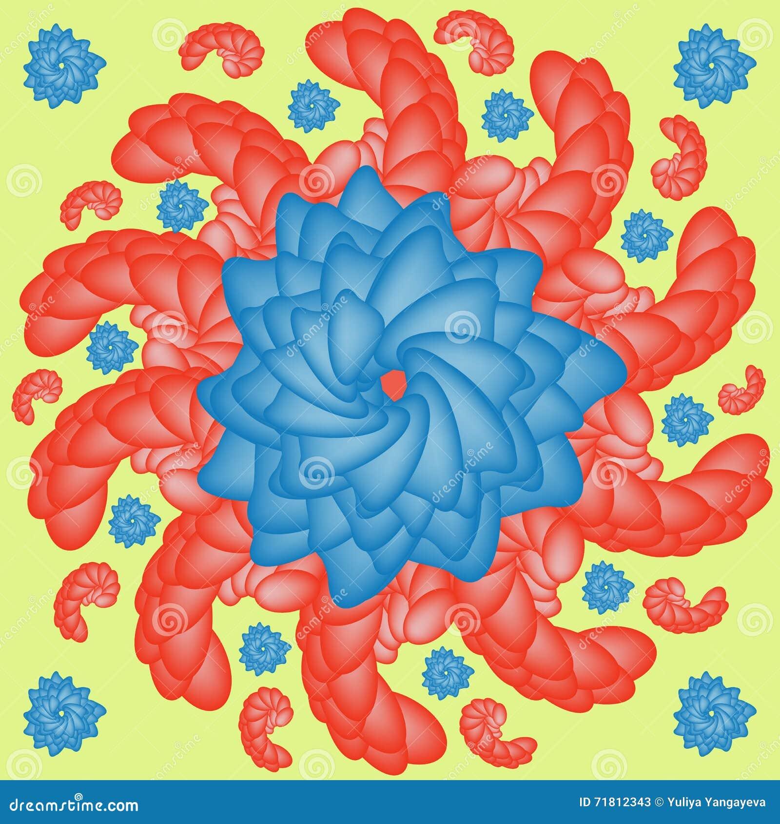 Flower Shrimp Stock Vector Illustration Of Blue Graphic 71812343